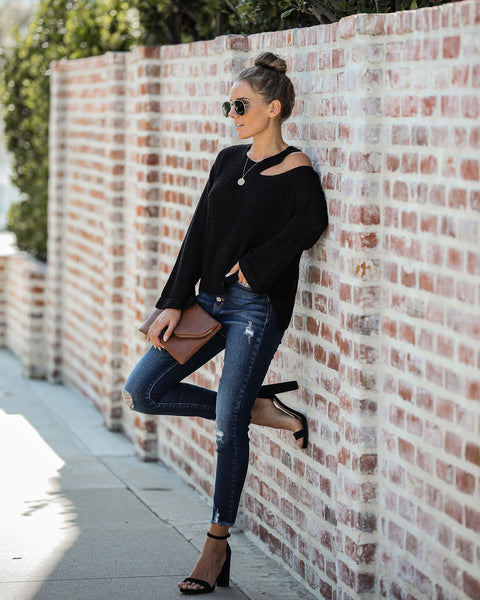 Hopelyn Cutout Knit Sweater