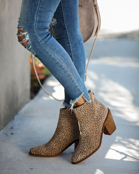 Unstoppable Leopard Heeled Bootie