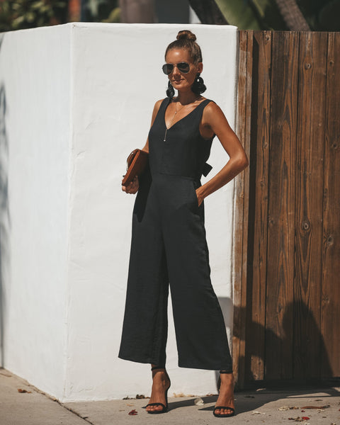 Gisela Pocketed Jumpsuit - Black