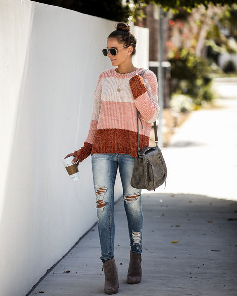 Sugarbush Chenille Colorblock Sweater - FINAL SALE