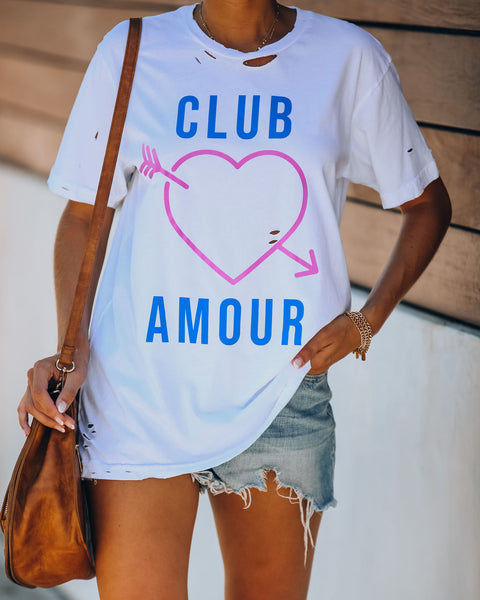 Club Amour Distressed Cotton Tee
