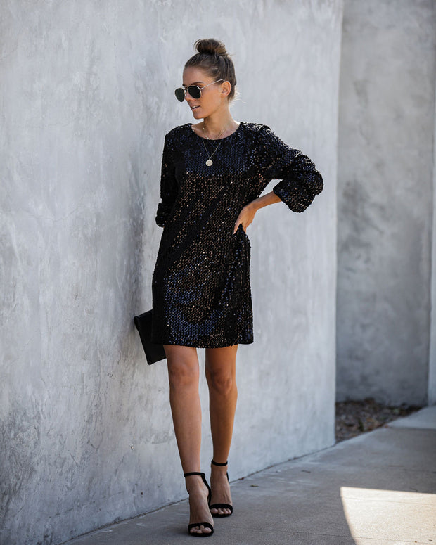 Karaoke Sequin Shift Dress