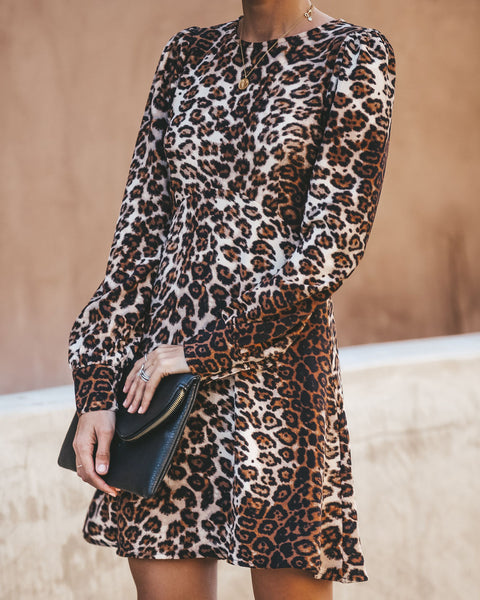 Nine Lives Long Sleeve Leopard Dress