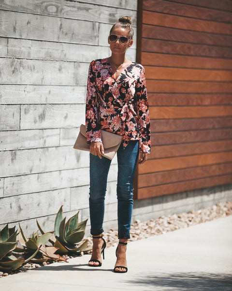 Sacred Lotus Wrap Blouse