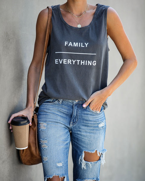 Family Over Everything Cotton Tank