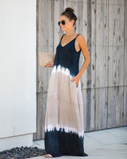 For Days Tie Dye Pocketed Maxi Dress