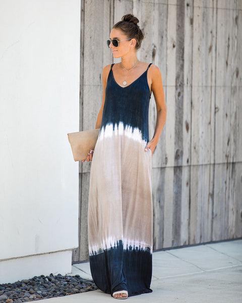 For Days Tie Dye Pocketed Maxi Dress - FINAL SALE