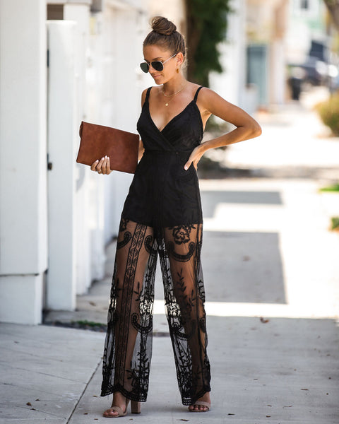 Lucid Dreams Embroidered Lace Jumpsuit