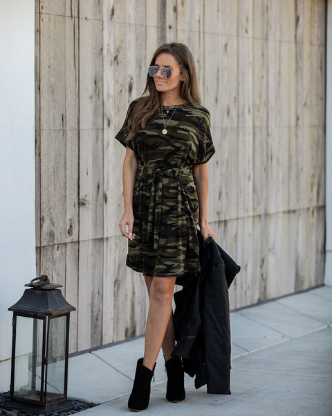 Domineer Camo T-Shirt Tie Dress
