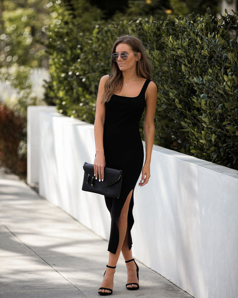 Your Best Self Ribbed Bodycon Midi Dress