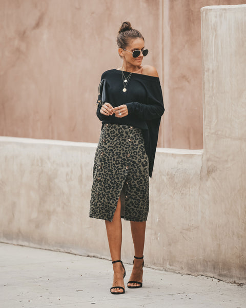 Into The Wild Cotton Button Down Skirt