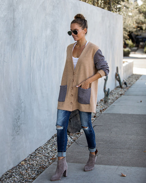 Boulevard Pocketed Button Down Cardigan   - FINAL SALE
