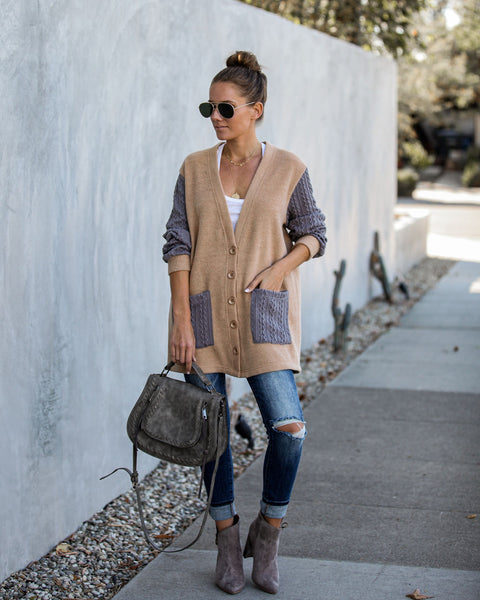 Boulevard Pocketed Button Down Cardigan