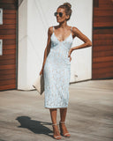 From This Moment Lace Midi Dress - Sky Blue - FINAL SALE