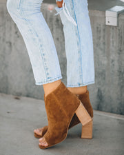 Celina Faux Suede Peep Toe Bootie - Camel view 1