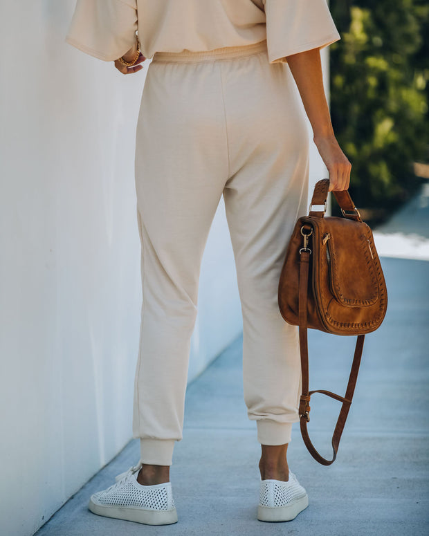 Clayton Pocketed Knit Joggers - Sand  - FINAL SALE