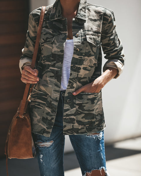 Fall In Line Camo Cotton Jacket