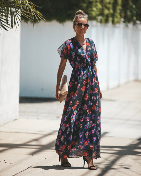 Aromatic Floral Maxi Dress - FINAL SALE