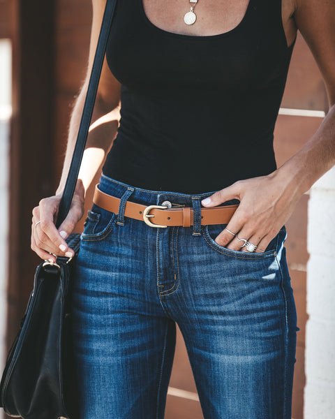 Surrey Skinny Belt - Tan