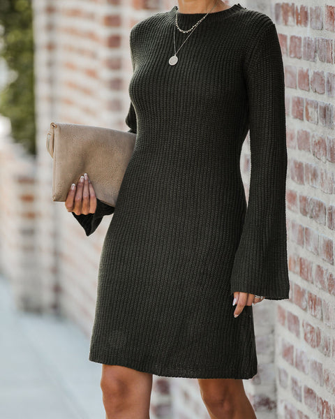 Michigan Bell Sleeve Sweater Dress