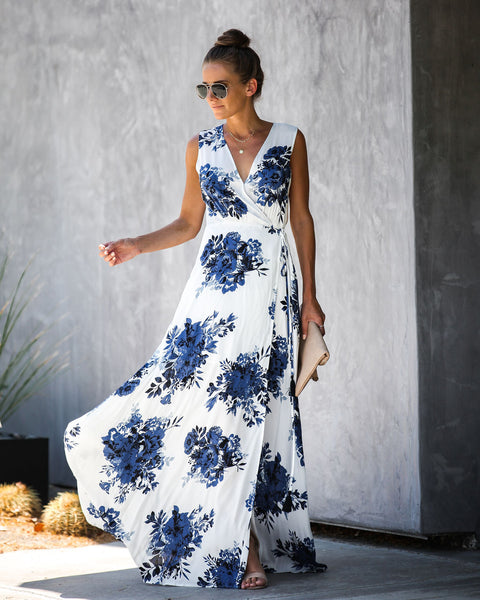 Secret Garden Wrap Maxi Dress