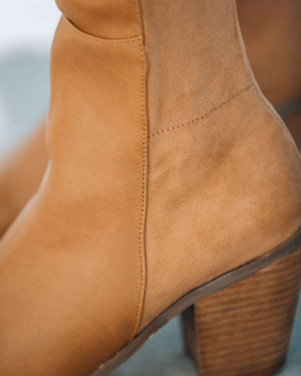 Ricky Heeled Faux Leather Boot