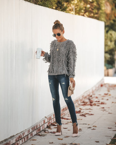 Turner Cotton Fringe Sweater - FINAL SALE