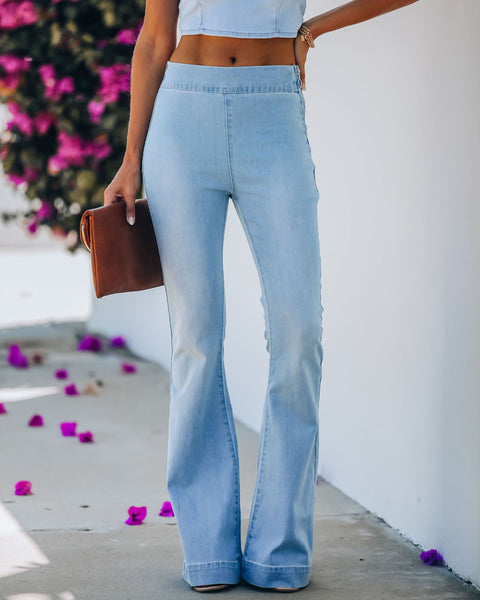 Valentina High Rise Flared Denim Pants