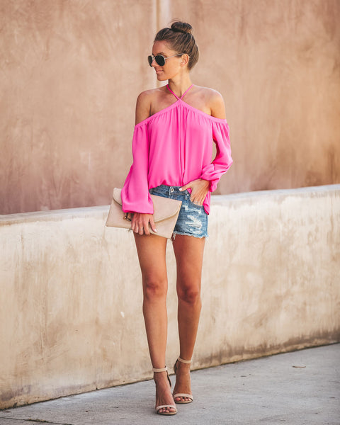 Renley Top - Hot Pink