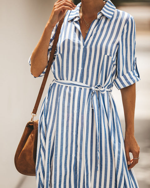 What A Beautiful Day High Low Shirt Dress
