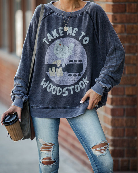 Take Me To Woodstock Relaxed Pullover