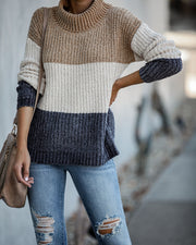 Broome Street Colorblock Chenille Sweater