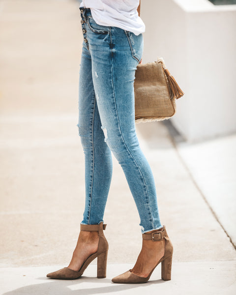 Suri High Rise Distressed Skinnies