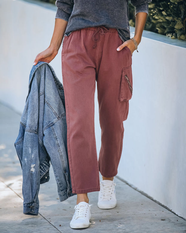 Cristiana Cotton Pocketed Cargo Joggers