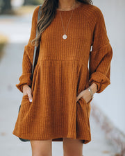 Golden Hour Pocketed Ribbed Knit Dress - FINAL SALE view 7