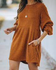 Golden Hour Pocketed Ribbed Knit Dress - FINAL SALE view 5