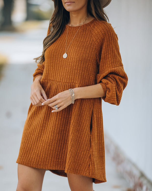 Golden Hour Pocketed Ribbed Knit Dress - FINAL SALE view 9