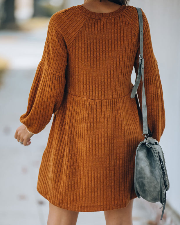 Golden Hour Pocketed Ribbed Knit Dress - FINAL SALE view 2