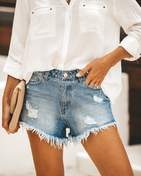 Old Soul Distressed Denim Cut Off Shorts