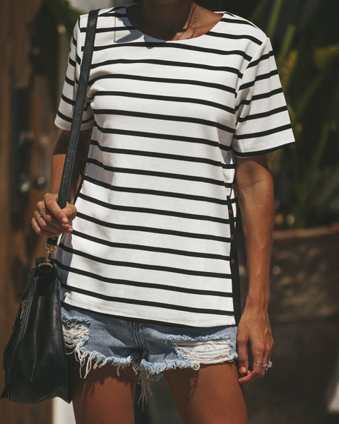 Lap Of Luxury Striped Top