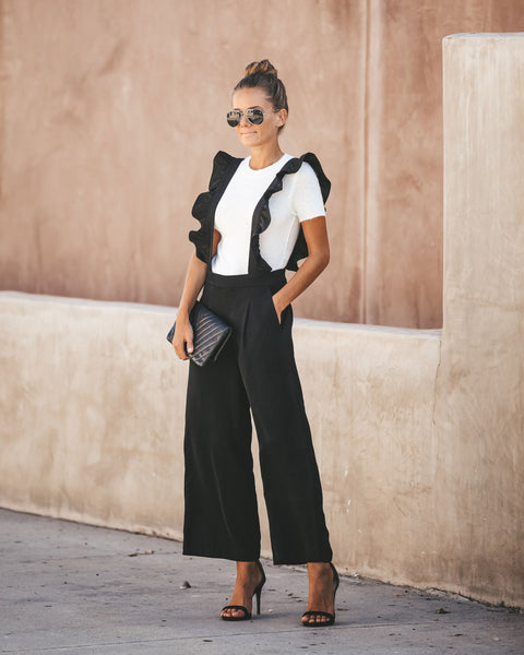 Lust For Life Ruffle Pocketed Overalls