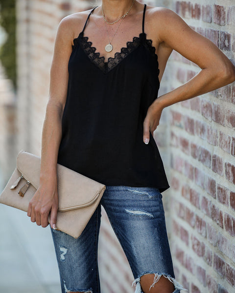 Hit The Town Lace Cami Tank