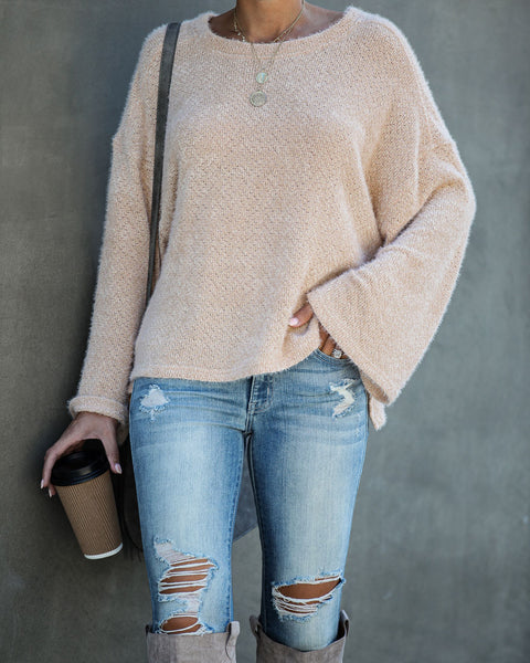 South For The Winter Soft Knit Top - Cream