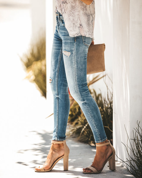 Bryant Mid Rise Distressed Skinny - FINAL SALE