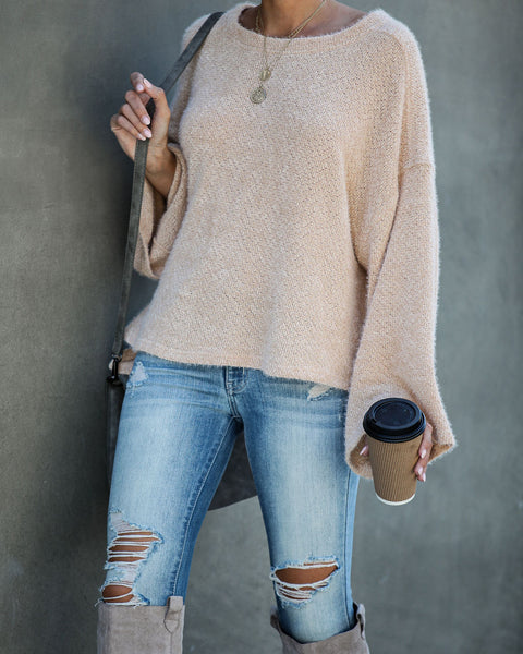 South For The Winter Soft Knit Top - Cream - FINAL SALE