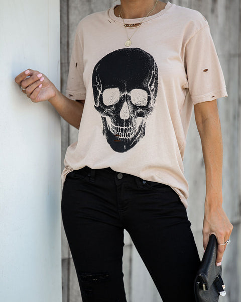 Calavera Skull Distressed Cotton Tee