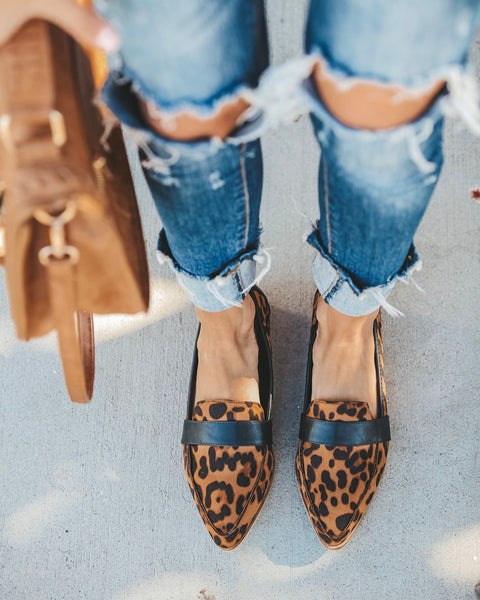 Logan Faux Suede Loafer - Leopard
