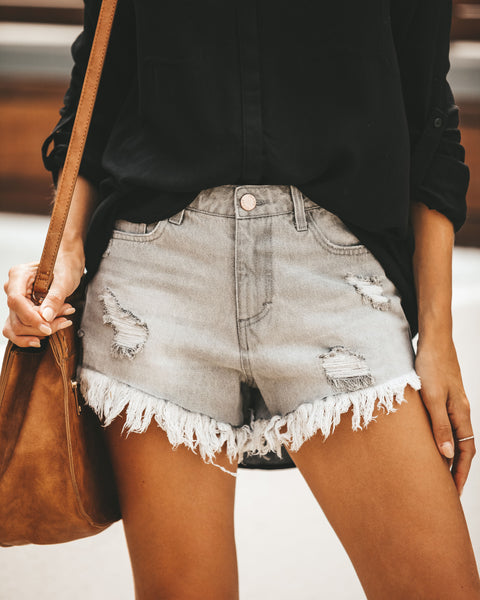 Cody Distressed Denim Cut Off Shorts