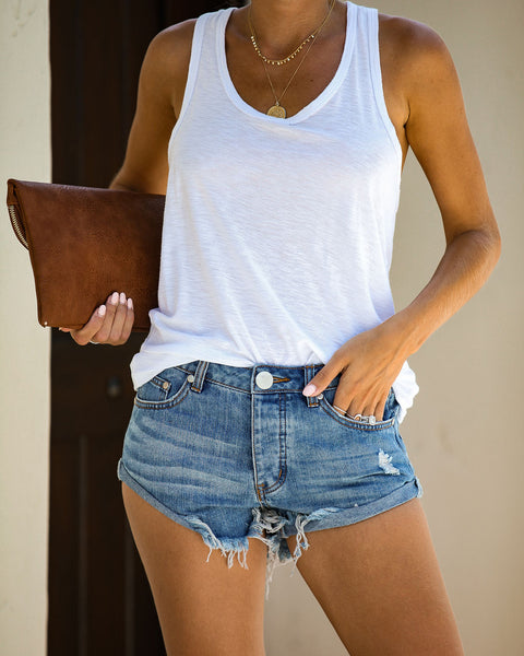 Romero Distressed Cuffed Denim Shorts
