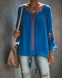 Icarian Sea Embroidered Top - FINAL SALE